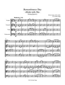 Abide with Me: Für Streichquartett by William Henry Monk