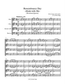 Abide with Me: For woodwind quartet by William Henry Monk