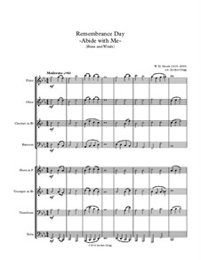 Abide with Me: For brass and winds by William Henry Monk