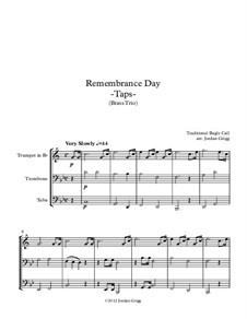 Taps: For brass trio by Daniel Adams Butterfield