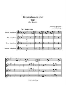 Taps: For saxophone quartet by Daniel Adams Butterfield