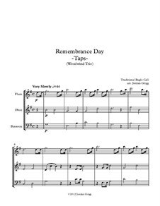 Taps: For woodwind trio by Daniel Adams Butterfield