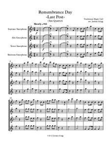 Last Post: For saxophone quartet by Unknown (works before 1850)
