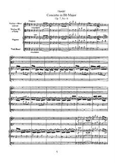 Konzert Nr.6 in B-Dur, HWV 311: Partitur by Georg Friedrich Händel