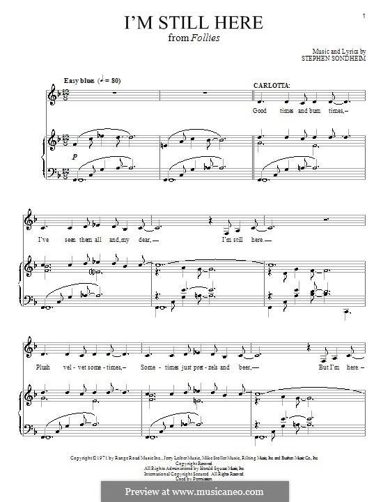 I'm Still Here: Für Stimme und Klavier by Stephen Sondheim
