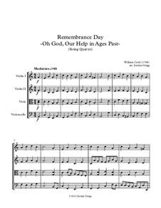 O God, Our Help in Ages Past: Für Streichquartett by William Croft