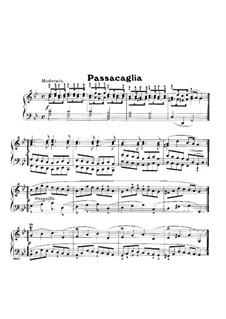 Suite Nr.7 in g-Moll, HWV 432: Passacaglia, für Klavier by Georg Friedrich Händel