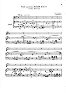 Stabat Mater: Nr.2 Cujus animam, für Stimme und Orgel by Gioacchino Rossini