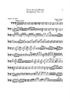Sinfonie Nr.45 in fis-Moll 'Abschied', Hob.I/45: Cello- und Kontrabass-Stimme by Joseph Haydn