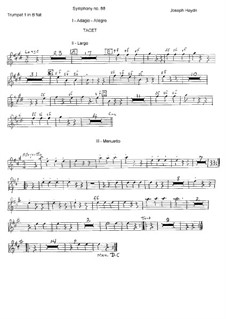 Sinfonie Nr.88 in G-Dur, Hob.I/88: Trompetenstimme I by Joseph Haydn