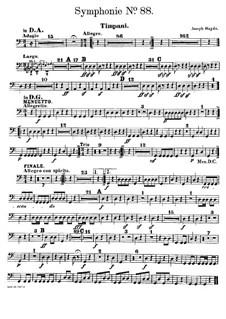Sinfonie Nr.88 in G-Dur, Hob.I/88: Paukenstimme by Joseph Haydn