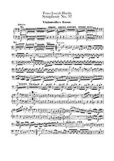 Sinfonie Nr.97 in C-Dur, Hob.I/97: Cello- und Kontrabass-Stimme by Joseph Haydn