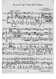 Konzert für Violine und Orchester Nr.4 in G-Dur, Hob.VIIa/4: Version für Violine und Klavier by Joseph Haydn