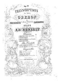 Act II Nr.14 Leid der Meermädchen: Für Klavier by Carl Maria von Weber