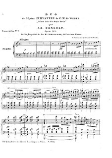 Akt II Nr.13 Nimm hin die Seele mein: Für Klavier by Carl Maria von Weber