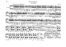 Zampa, ou La fiancée de marbre: Ouvertüre für Klavier, vierhändig by Ferdinand Herold