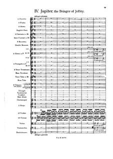 Vollständige Suite: Teil IV – Partitur by Gustav Holst