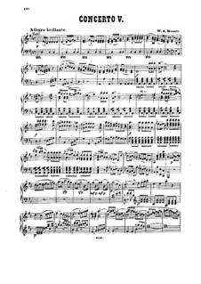 Konzert für Klavier und Orchester Nr.26 in D-Dur 'Krönungskonzert', K.537: Bearbeitung für Klavier by Wolfgang Amadeus Mozart