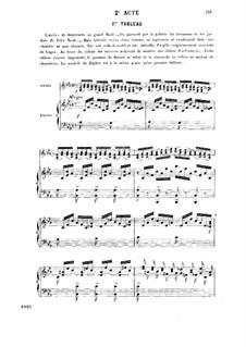Ascanio: Akt II, für Solisten, Chor und Klavier by Camille Saint-Saëns