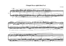 5 Simple pieces for piano: Eighth book No.1, MVWV 718 by Maurice Verheul