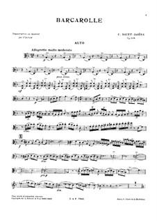 Barkarole in F-Dur, Op.108: Vollpartitur, Stimmen by Camille Saint-Saëns