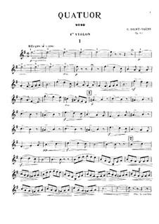 Streichquartett Nr.1 in G-Dur, Op.112: Stimmen by Camille Saint-Saëns