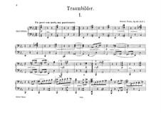 Traumbilder für Klavier, vierhändig, Op.48: Erste und zweite Stimme by Robert Fuchs