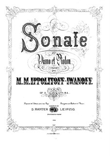 Violinsonate, Op.8: Partitur by Michail Ippolitow-Iwanow