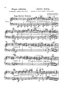 Version von Ippolitov-Ivanov: Akt II für Solisten, Chor und Klavier by Modest Mussorgski, Michail Ippolitow-Iwanow