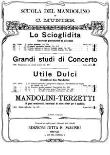 Utile Dulci. Duetti per due Mandolini: Part IV. Eight duos, Op.228 by Carlo Munier