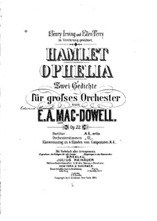 Hamlet and Ophelia, Op.22: Vollpartitur by Edward MacDowell