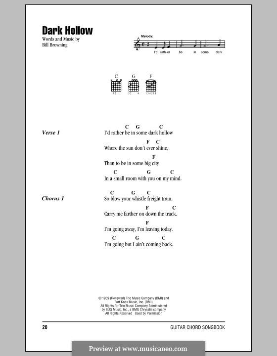 Dark Hollow (The Grateful Dead): Text und Akkorde by Bill Browning