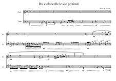 Song for Soprano and Cello Based on a Poems of Karin Boye: No.0. Duo for flute and cello, MVWV 55 by Maurice Verheul