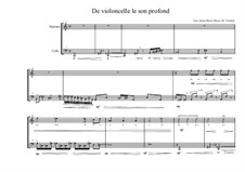 Song for Soprano and Cello Based on a Poems of Karin Boye: No.0b (French text), MVWV 54 by Maurice Verheul
