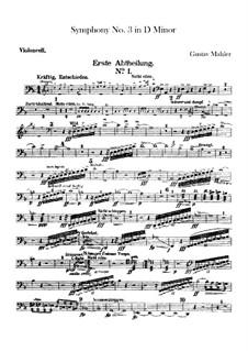 Sinfonie No.3 in d-Moll: Cellostimmen by Gustav Mahler