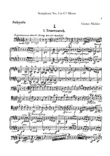 Sinfonie Nr.5 in cis-Moll: Trauermarsch – Cellostimmen by Gustav Mahler