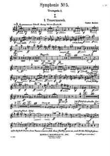 Sinfonie Nr.5 in cis-Moll: Trauermarsch – Trompetestimmen by Gustav Mahler