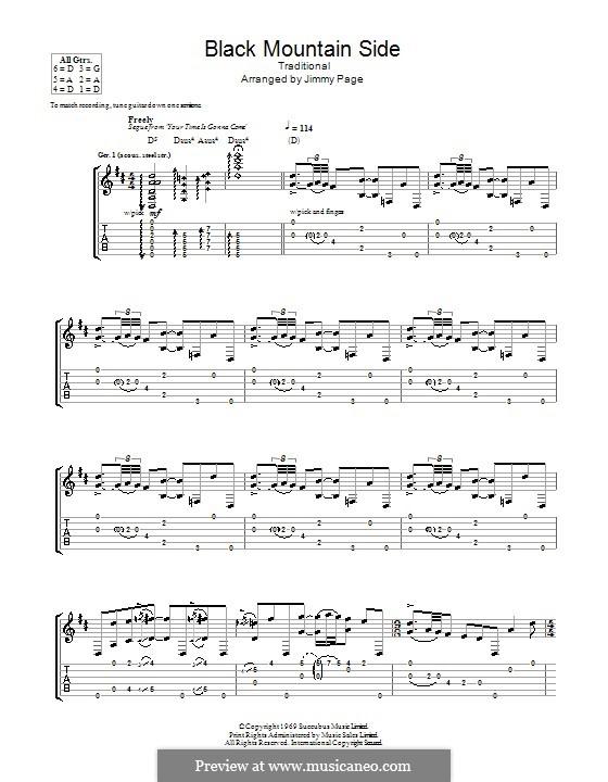 Black Mountain Rag: Gitarrentabulatur by folklore
