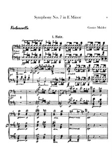 Sinfonie Nr.7 in e-Moll: Cellosstimme by Gustav Mahler