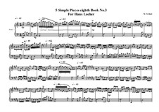 5 Simple pieces for piano: Eighth book No.3, MVWV 720 by Maurice Verheul