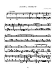 Infant Holy, Infant Lowly: Für Klavier by folklore