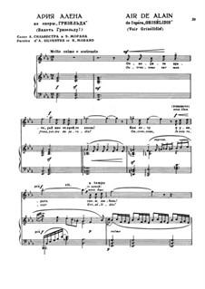 Grisélidis: Act I. Ouvres-vous sur mon front, for voice and piano by Jules Massenet