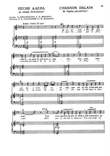 Grisélidis: Act II. Je suis l'oiseau, for voice and piano by Jules Massenet