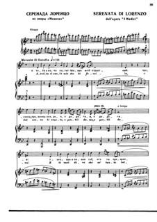 Die Medici: Serenata di Lorenzo by Ruggero Leoncavallo
