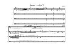 String quartet No.5, MVWV 508: String quartet No.5 by Maurice Verheul