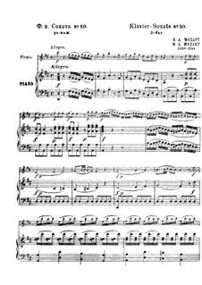 Sonate für Flöte und Klavier in D-Dur: Sonate für Flöte und Klavier in D-Dur by Wolfgang Amadeus Mozart