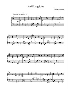 Auld Lang Syne: Für Klavier by Unknown (works before 1850)