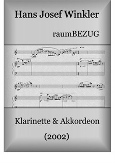 raumBEZUG für Klarinette und Akkordeon: raumBEZUG für Klarinette und Akkordeon by Hans Josef Winkler