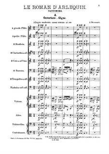Le roman d'Arlequin: Für Orchester by Jules Massenet