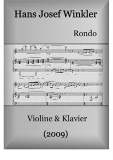 Rondo alla fianco a fianco: Für Violine und Klavier by Hans Josef Winkler